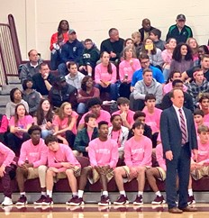 Max Melrose's Brebeuf Basketball Pink Out